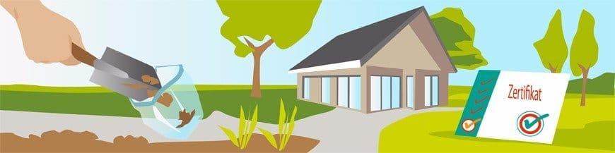 Hauskauf Bodenprobe Grundstücksanalyse